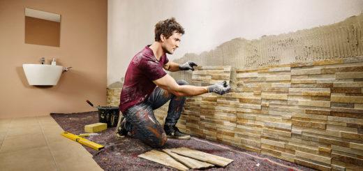 Как монтировать декоративный камень