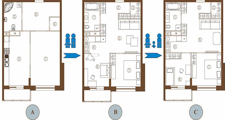 перепланировка квартиры варианты