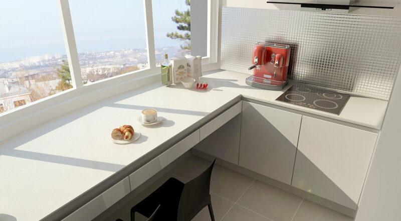 Размещение кухни на балконе