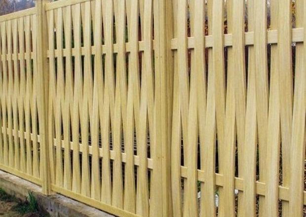 виды деревянных заборов