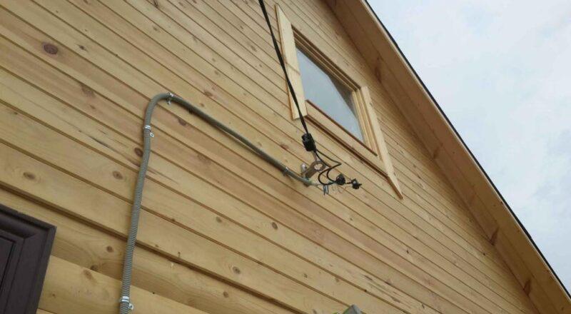 Как сделать ввод электричества в частный дом
