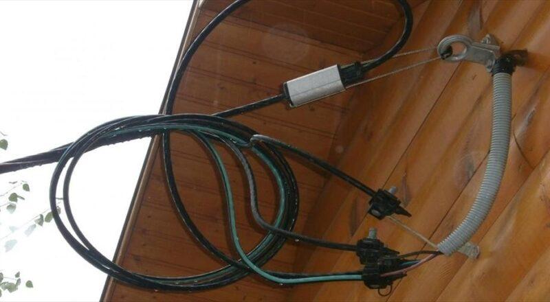 Монтаж электрического вода в частный дом