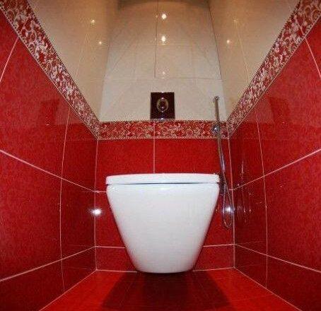 Отделка туалета плиткой