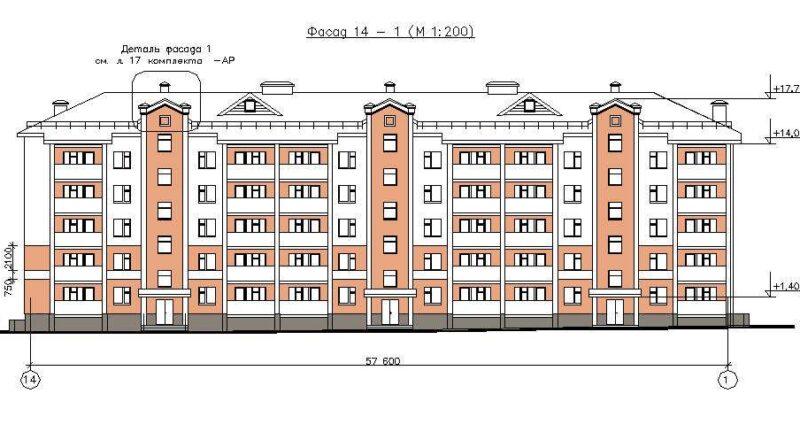 Размеры пятиэтажного дома